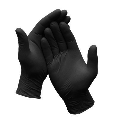 Black Mamba Nitrile Gloves – Black