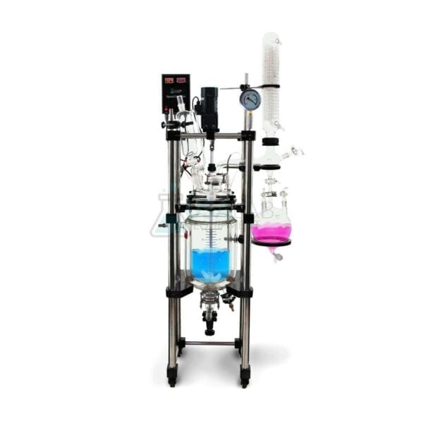 Usa Lab 10L Single Jacketed Glass Reactor Turnkey System Reactor