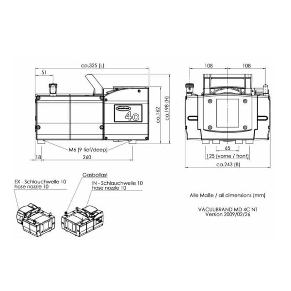 Usa Lab 50L Single Jacketed Glass Reactor Turnkey System Pump Diagram