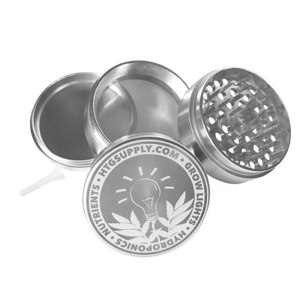 HTG Supply Metal Herb Grinder Silver