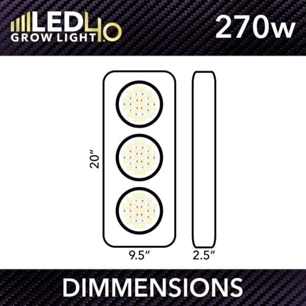 Htg Led 4.0 Dimmensions 270W