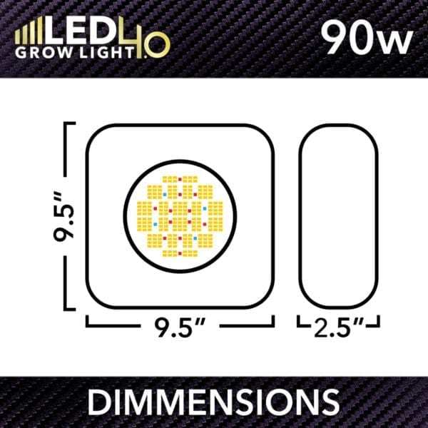 Htg Led 4 0 Dimmensions 90W