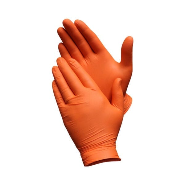 Orange Nitrile Gloves