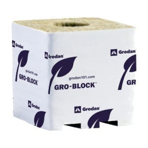 6x6x6 Grodan Gro-Block Improved Rockwool Block