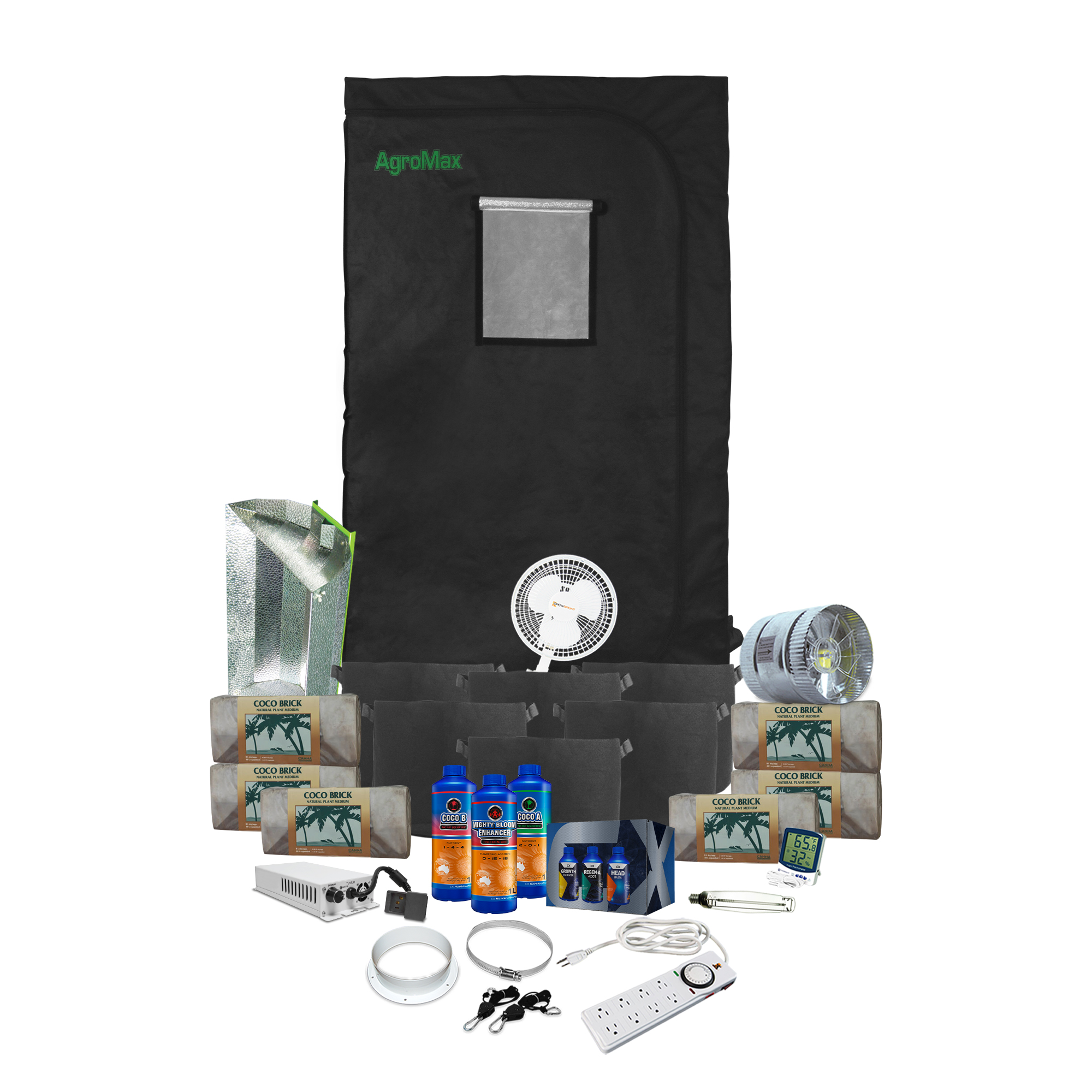 HTG Original 3'x3' Hydroponic LED Grow Tent Kit