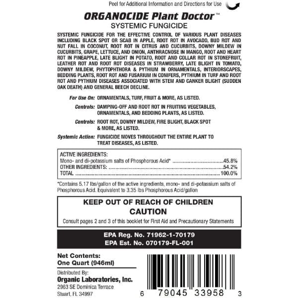 organocide plant doctor label indications