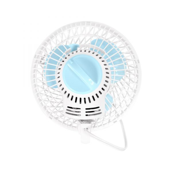 GrowBright 6 Inch Oscillating Clip-On Fan with Adjustable Speed
